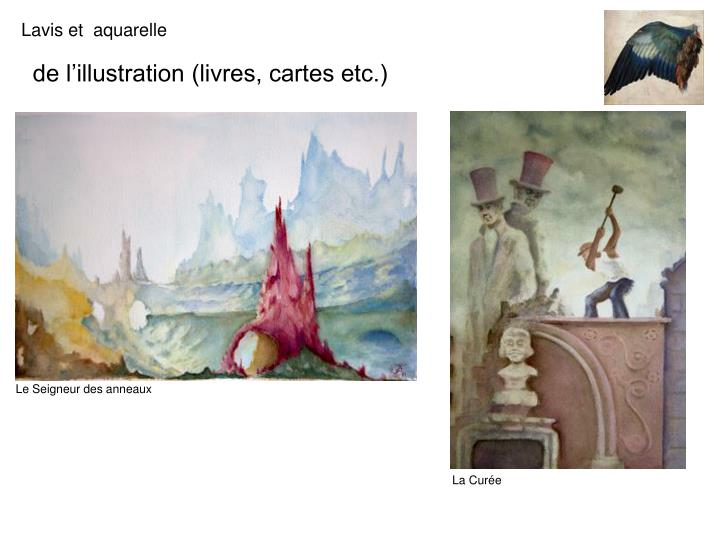 de l'illustration (livres, cartes etc.)
