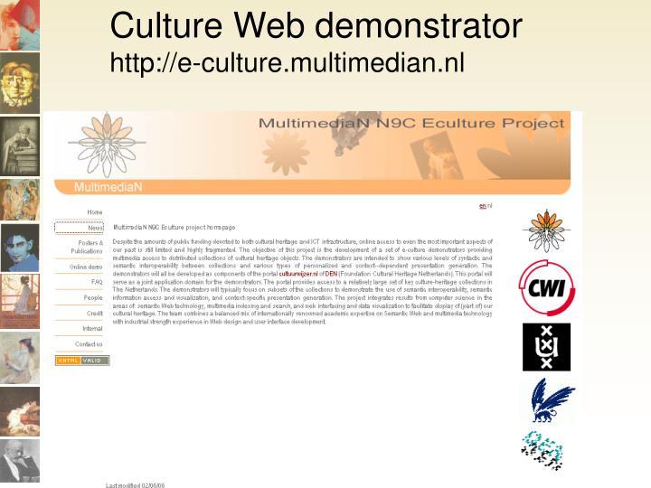 Culture Web demonstrator