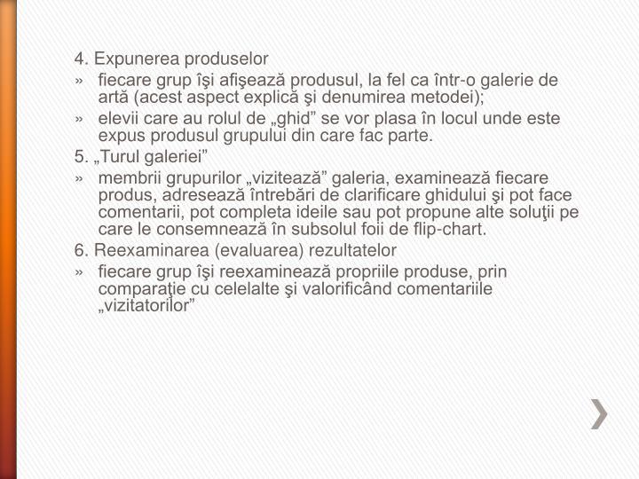 4. Expunerea produselor