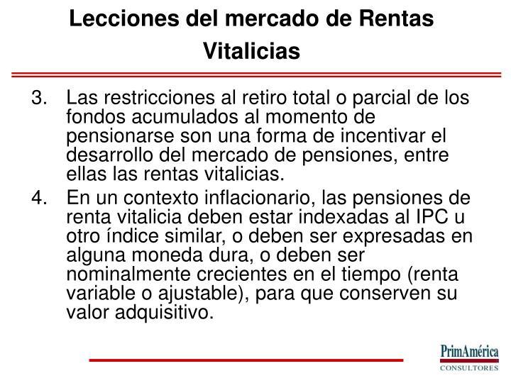 Lecciones del mercado de Rentas Vitalicias