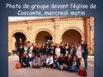 photo de groupe devant l glise de cascante mercredi matin