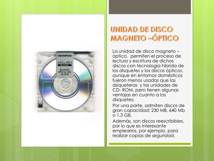 UNIDAD DE DISCO