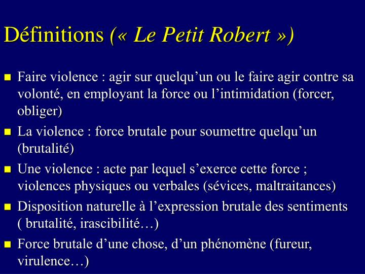 D finitions le petit robert