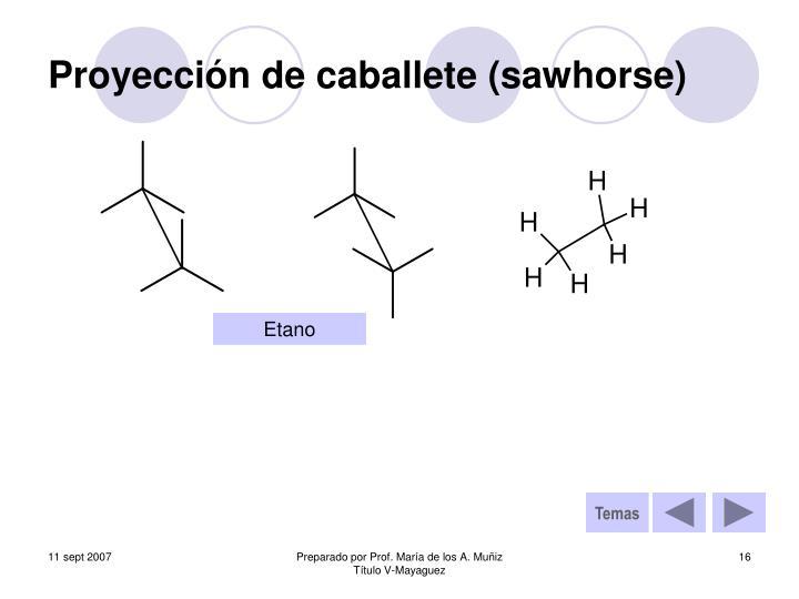Proyección de caballete (sawhorse)