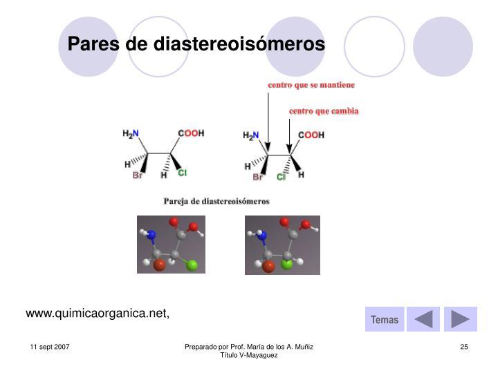 Pares de diastereoisómeros