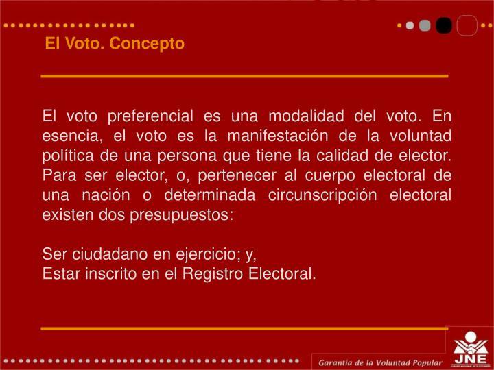 El Voto. Concepto