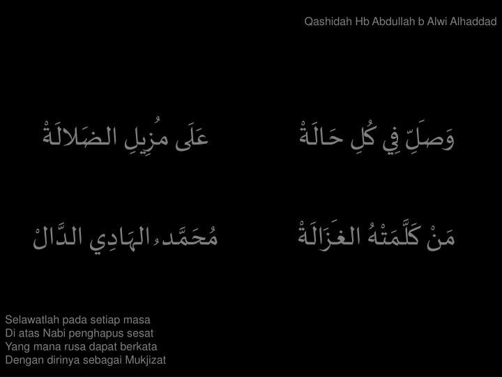 Qashidah Hb Abdullah b Alwi Alhaddad