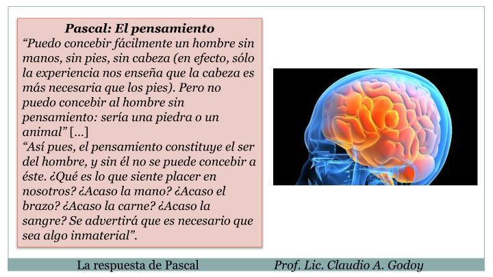 Pascal: El pensamiento