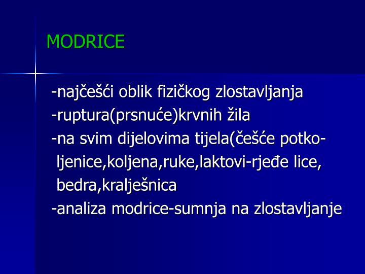 MODRICE