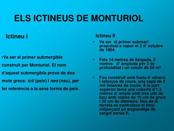 ELS ICTINEUS DE MONTURIOL