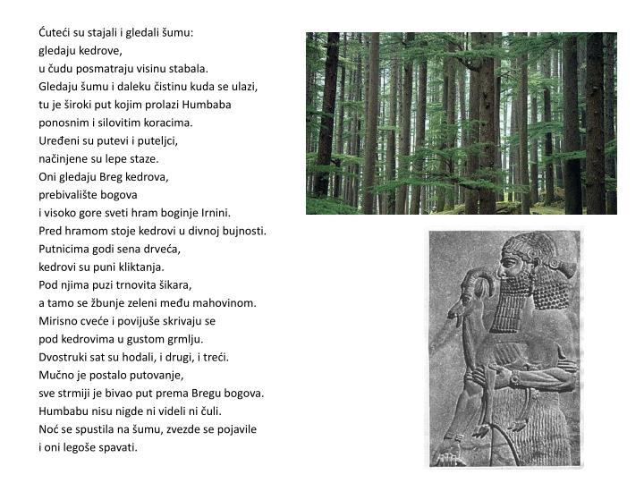 Ćuteći su stajali i gledali šumu: