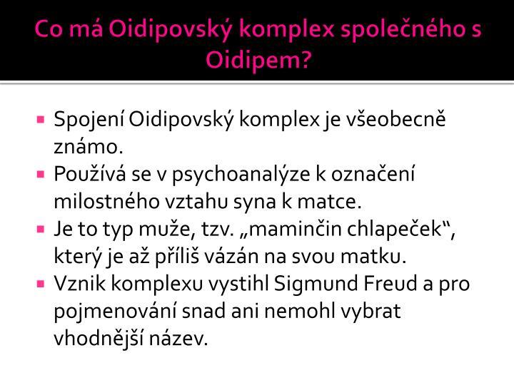 Co má Oidipovský komplex společného s Oidipem?