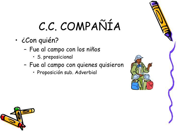C.C. COMPAÑÍA
