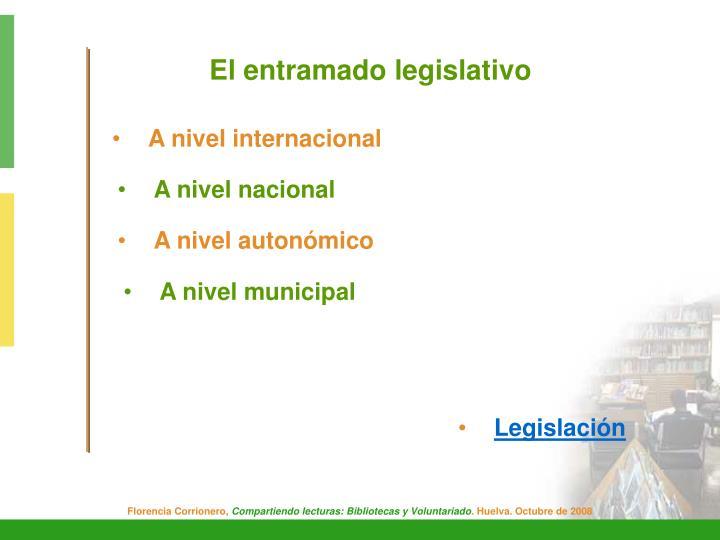 El entramado legislativo