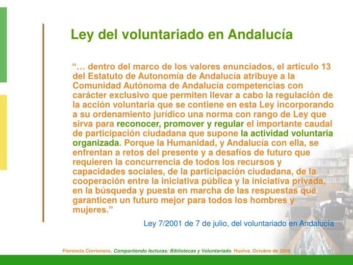Ley del voluntariado en Andalucía