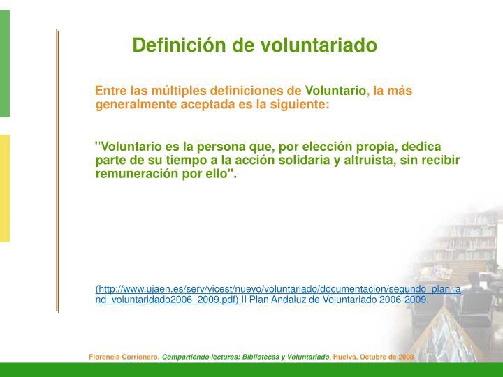 Definición de voluntariado