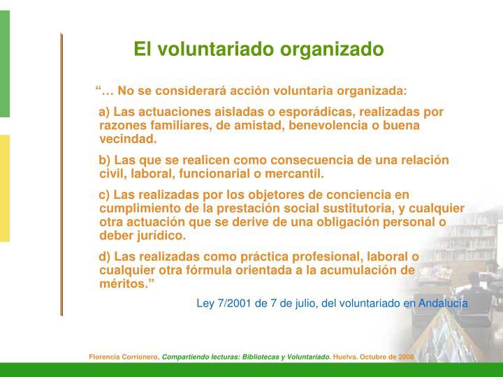 El voluntariado organizado