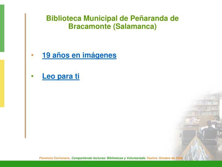 Biblioteca Municipal de Peñaranda de Bracamonte (Salamanca)