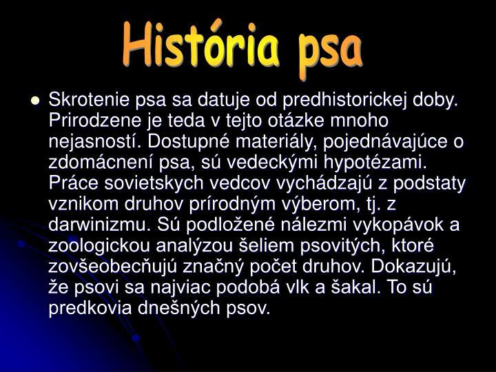 História psa