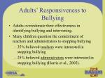adults responsiveness to bullying