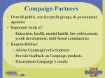 campaign partners