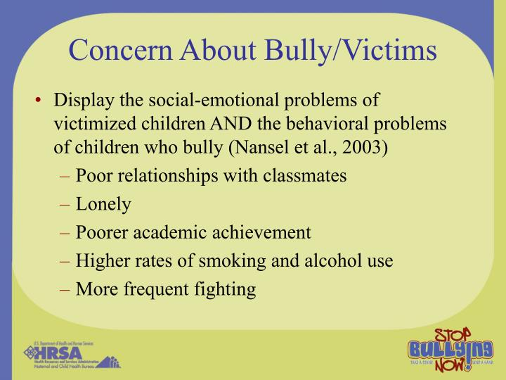 Concern About Bully/Victims