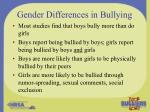 gender differences in bullying