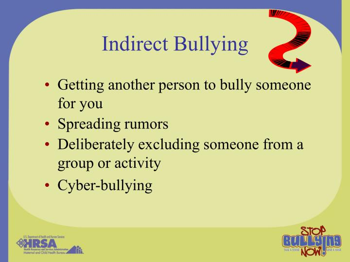 Indirect Bullying