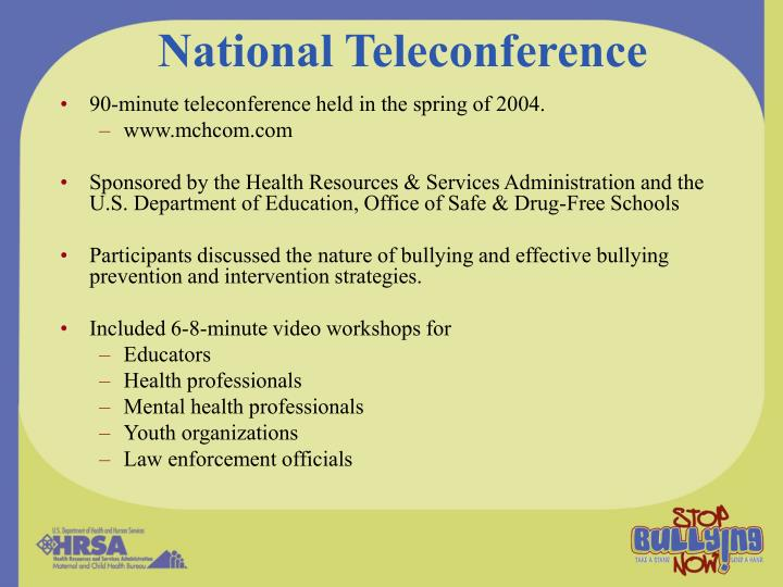 National Teleconference