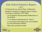 safe school initiative report 2002
