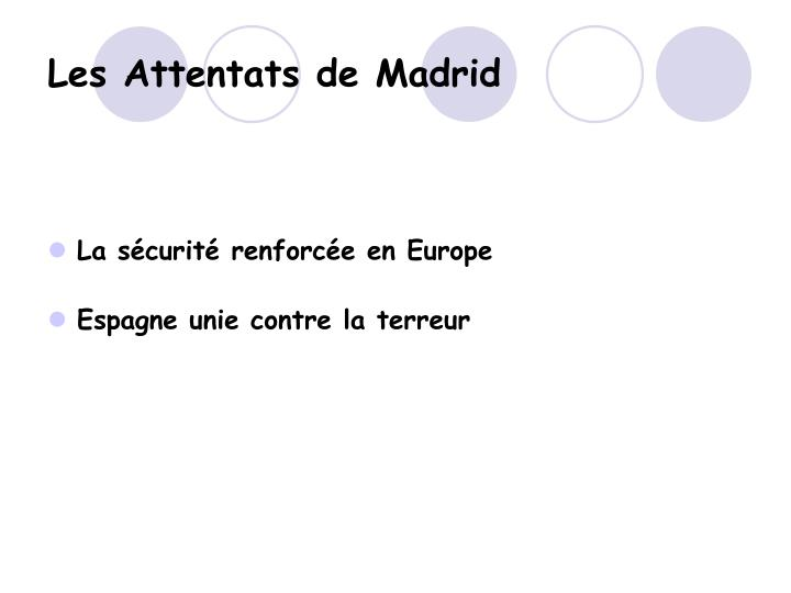 Les Attentats de Madrid