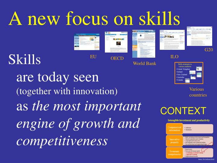 A new focus on skills