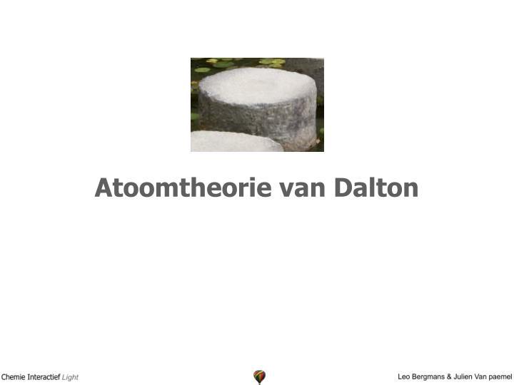 Atoomtheorie van Dalton