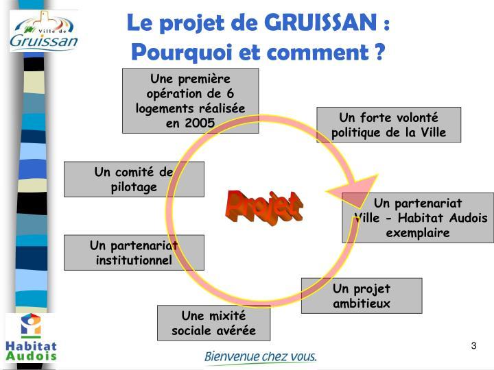 Le projet de GRUISSAN : Pourquoi et comment ?