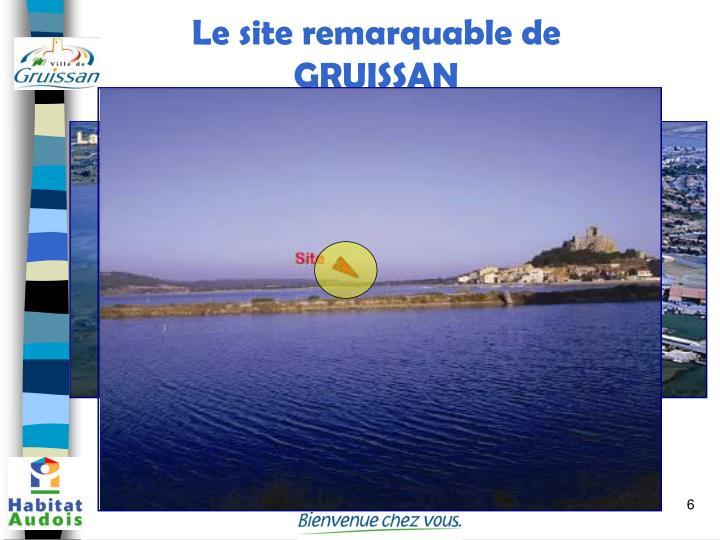 Le site remarquable de GRUISSAN