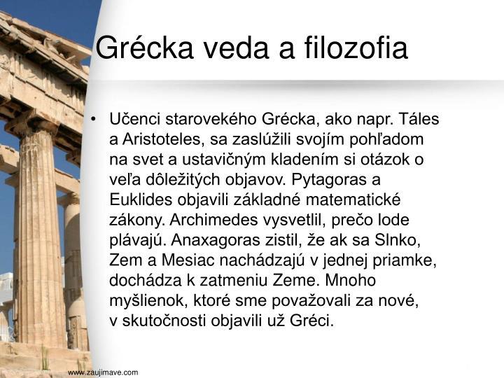 Grécka veda a filozofia