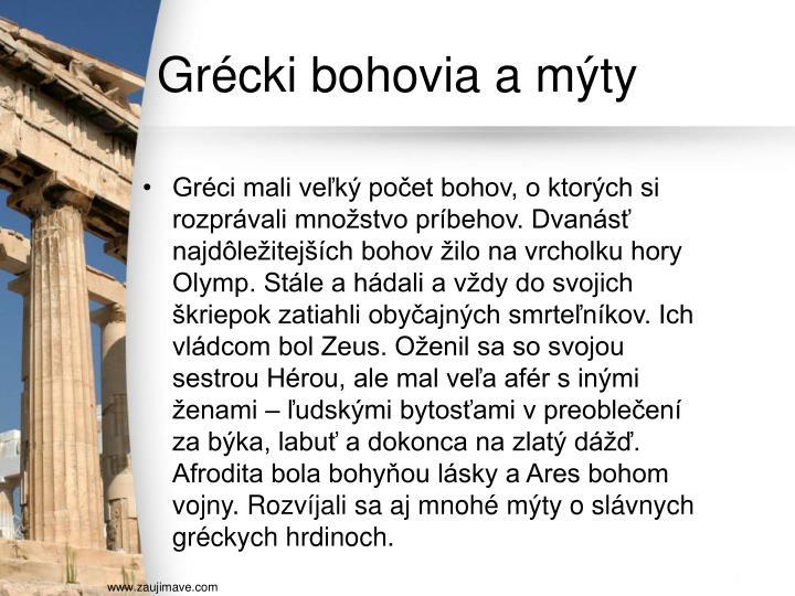 Grécki bohovia a mýty