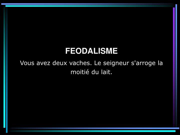 FEODALISME
