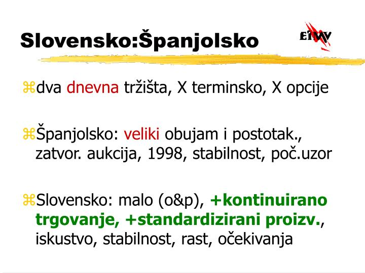 Slovensko:Španjolsko