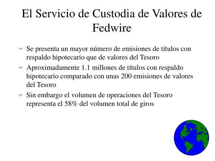 El Servicio de Custodia de Valores de Fedwire