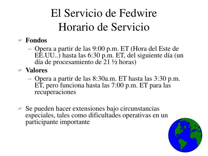 El Servicio de Fedwire