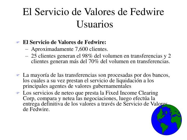 El Servicio de Valores de Fedwire