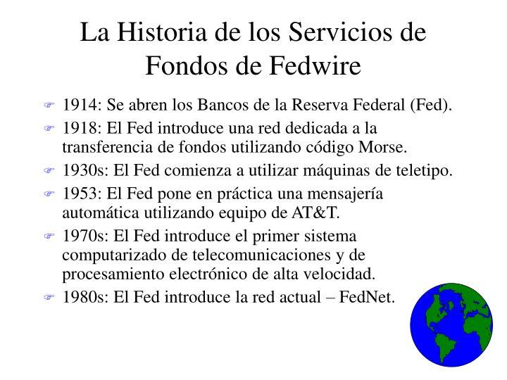 La Historia de los Servicios de Fondos de Fedwire