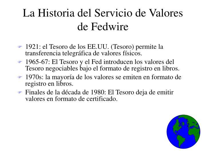 La Historia del Servicio de Valores de Fedwire