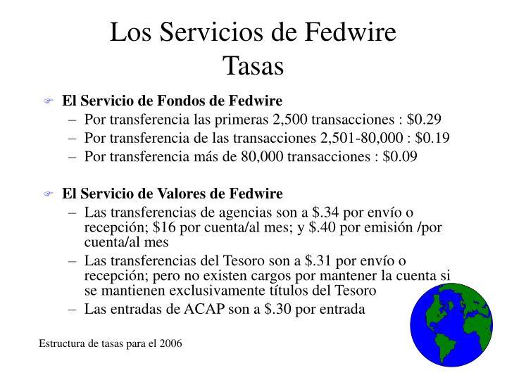 Los Servicios de Fedwire