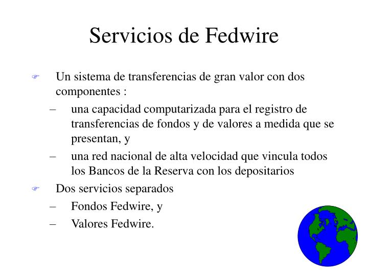 Servicios de Fedwire