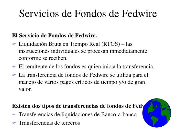 Servicios de Fondos de Fedwire