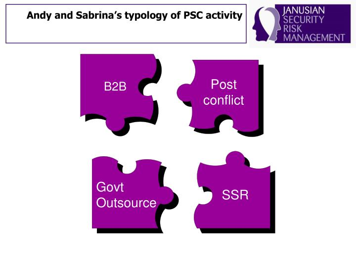 Andy and Sabrina's typology of PSC activity