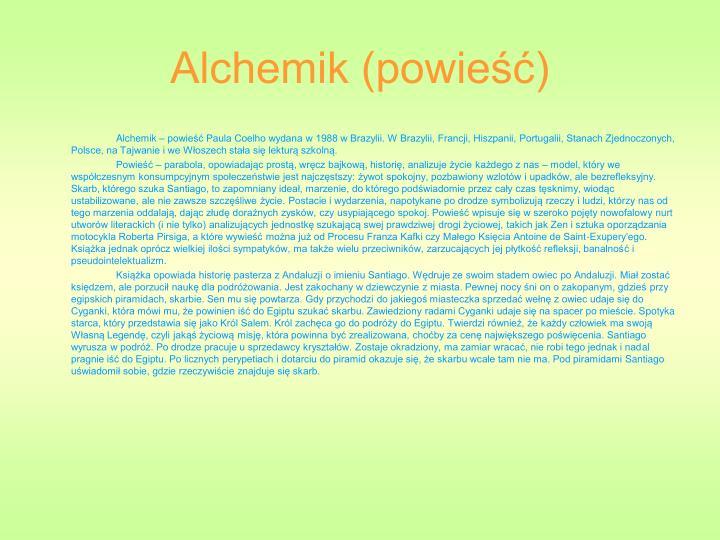 Alchemik (powieść)