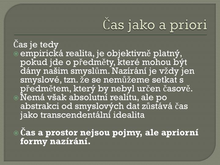 Čas jako a priori